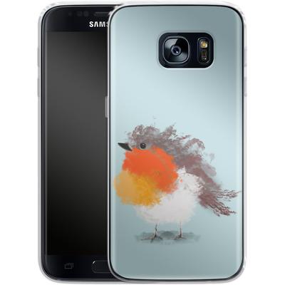 Samsung Galaxy S7 Silikon Handyhuelle - Cloudy Robin von caseable Designs