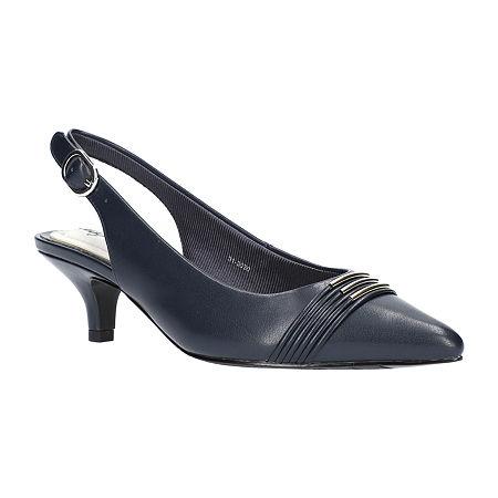 Easy Street Womens Maeve Pumps Kitten Heel, 11 Medium, Blue