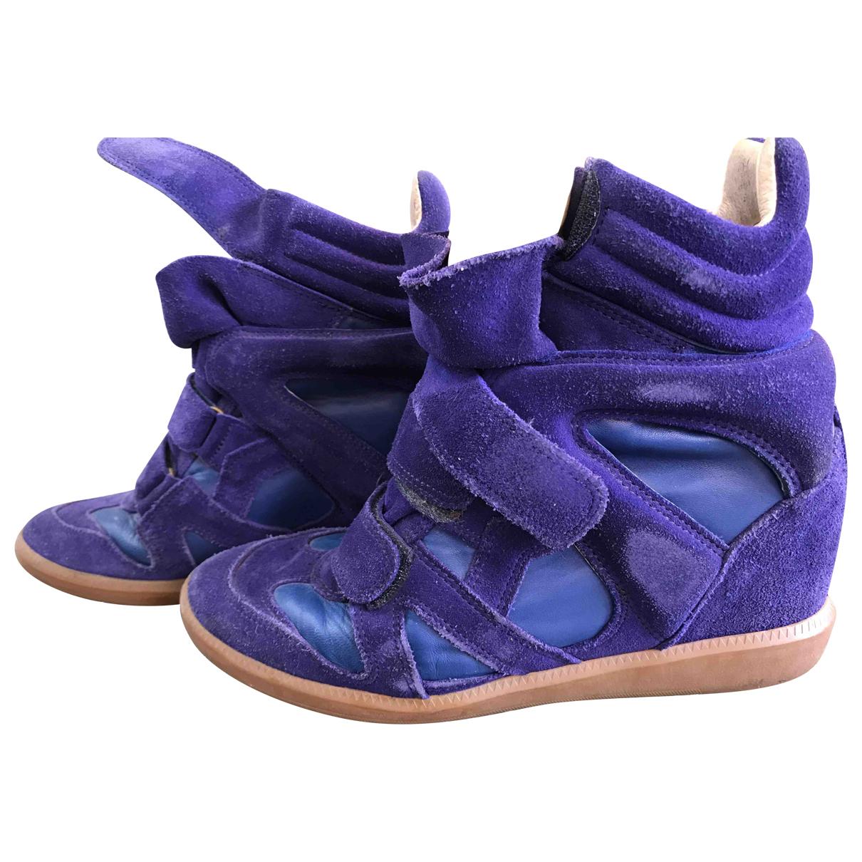 Isabel Marant Beckett Sneakers in  Lila Veloursleder