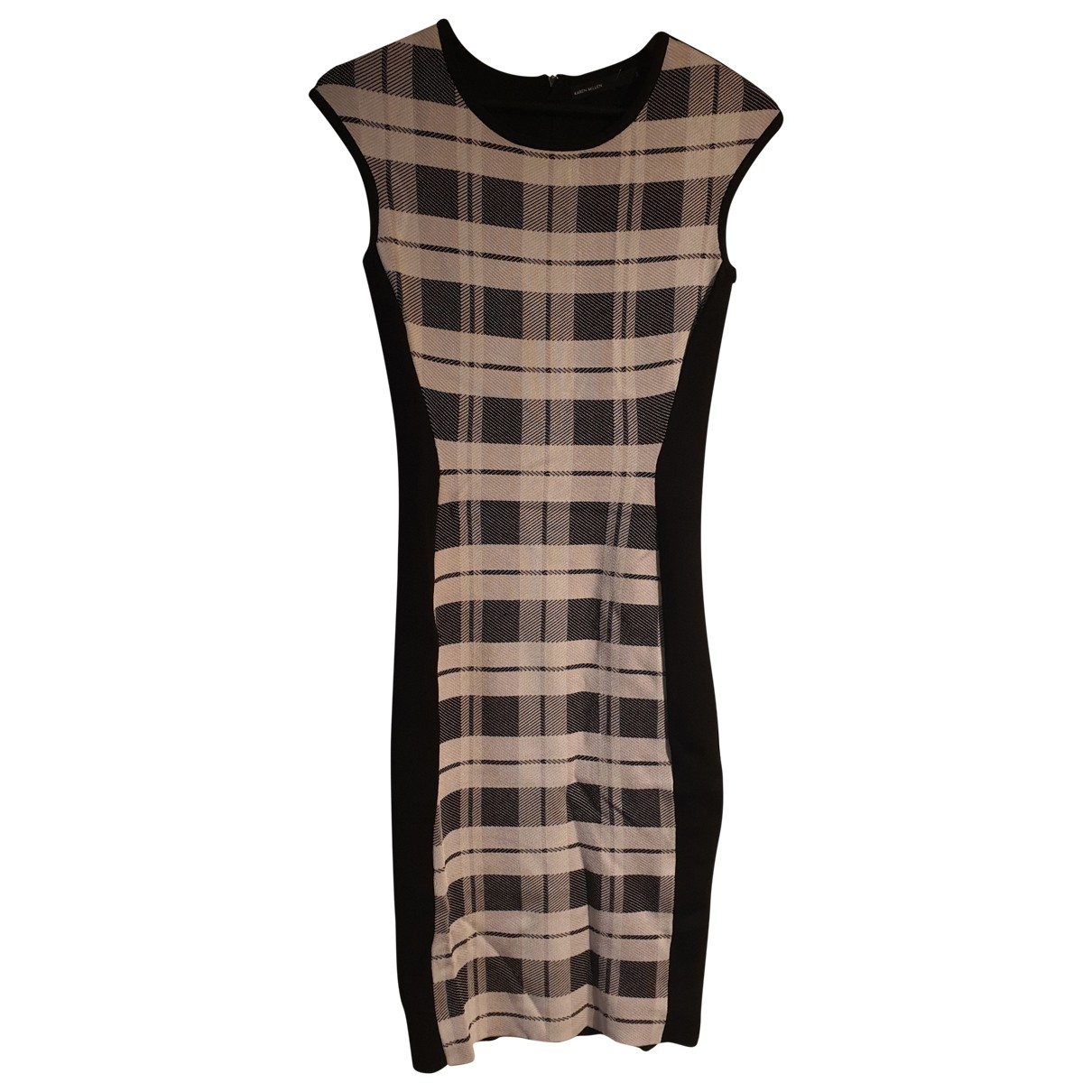 Karen Millen \N Black Cotton - elasthane dress for Women 2 US