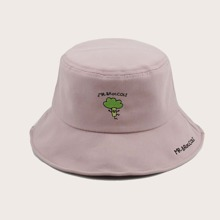 Vegetable Embroidered Bucket Hat