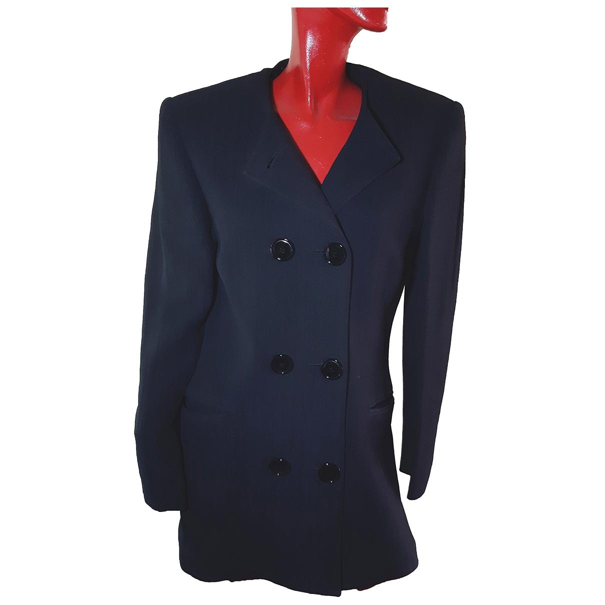 Gianfranco Ferré \N Blue Silk jacket for Women 40 IT