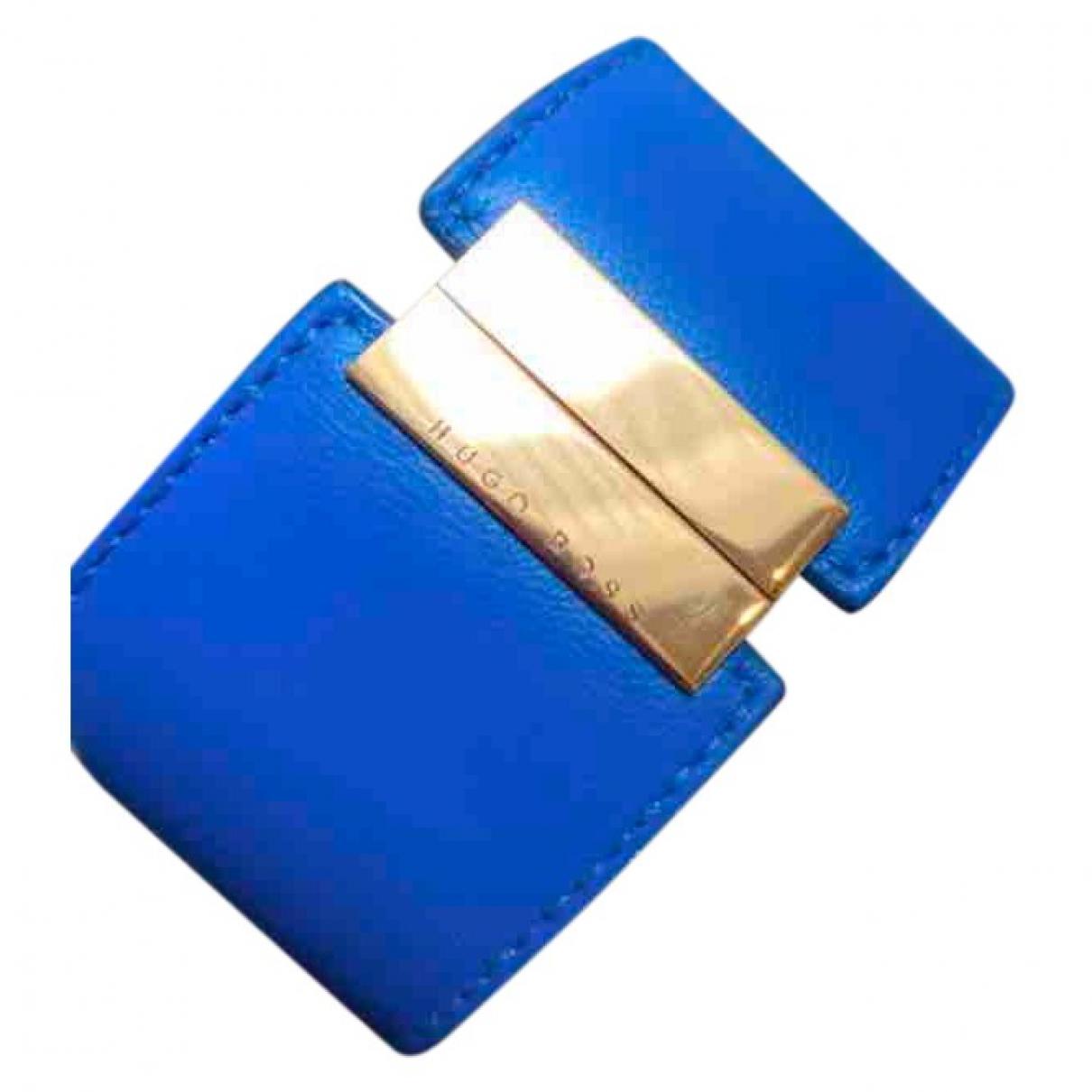 Hugo Boss \N Armband in  Blau Leder