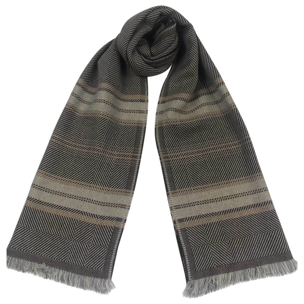 Lanvin \N Brown Wool scarf & pocket squares for Men \N