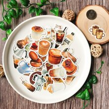 40pcs Coffee Pattern Sticker