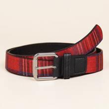 Plaid Buckle Belt