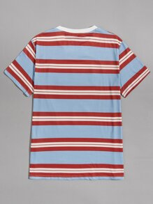 Guys Striped & Letter Graphic Tee