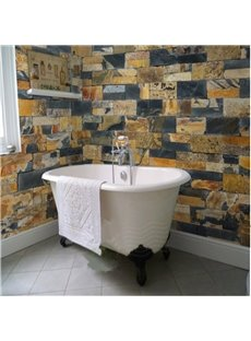 Stone Brick 3D Waterproof Bathroom Wall Murals