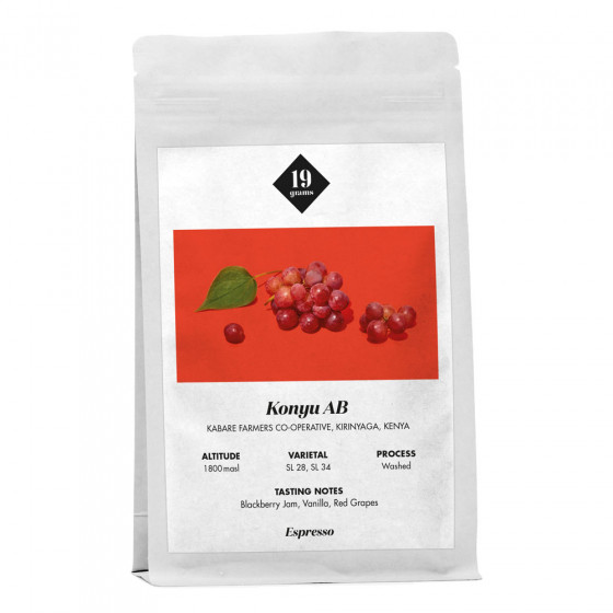 "Kaffeebohnen 19 grams ""Konyu AB Kenya Espresso"", 1 kg"