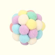 1 Stueck Katze Spielzeug Ball mit Pom-pom Dekor