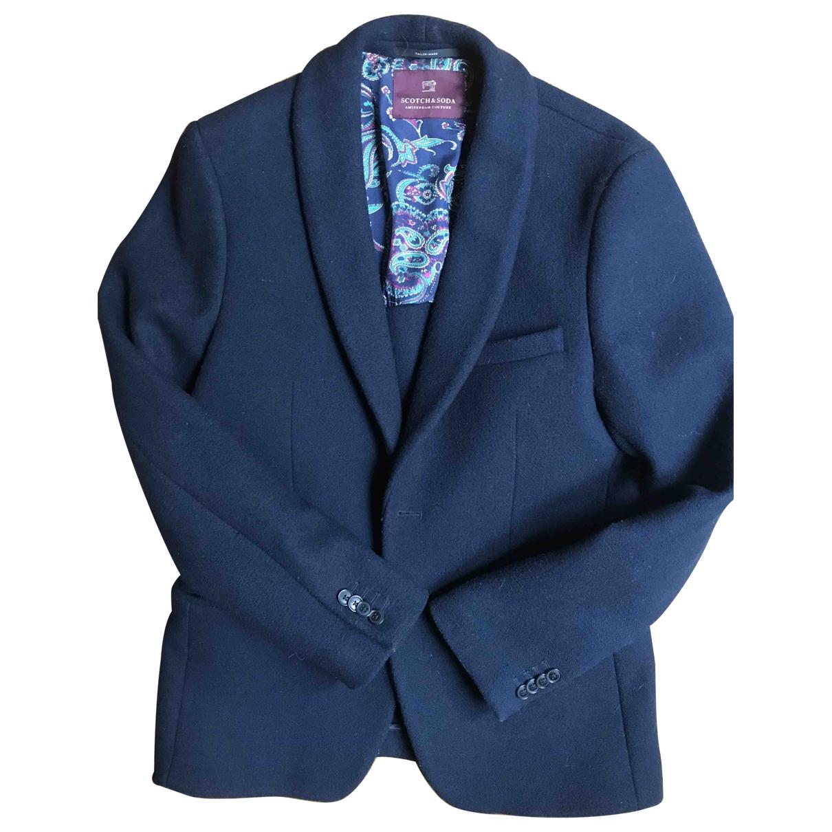 Scotch & Soda \N Blue Wool jacket  for Men M International