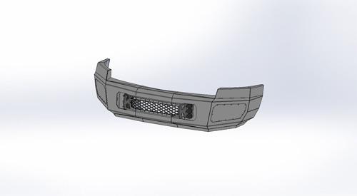 Flog Industries FISD-C2535-0810F-s 08-10 Silverado 2500/3500 Front Bumper with Sensors