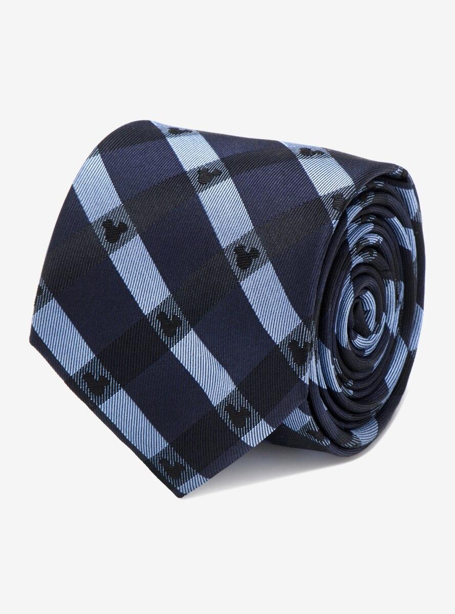 Disney Mickey Mouse Blue Plaid Tie