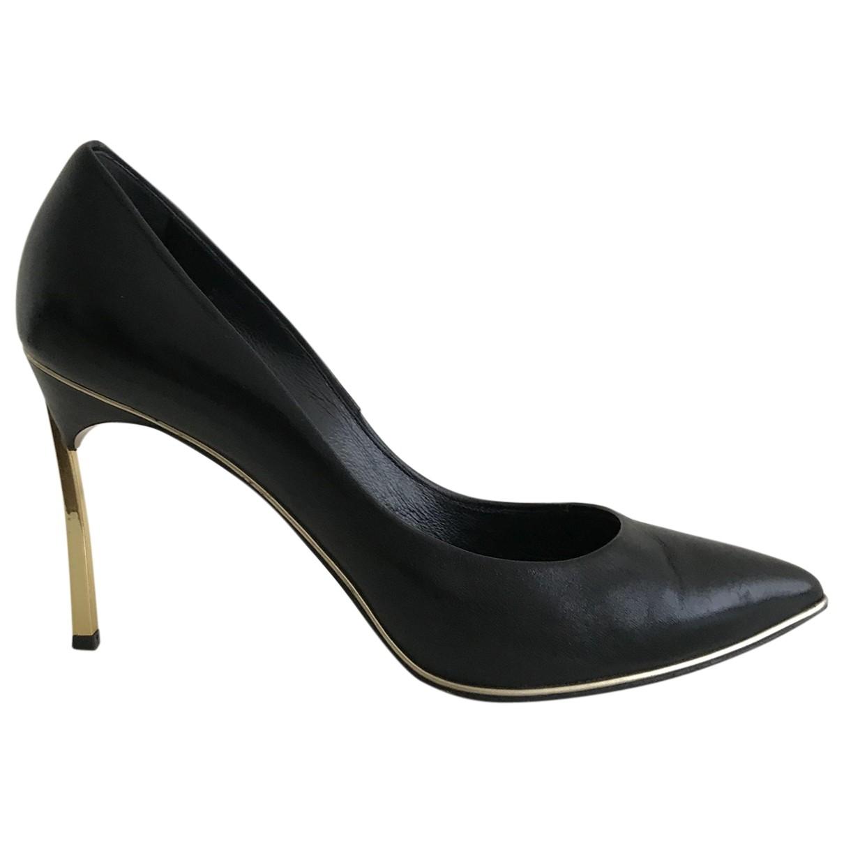 Casadei \N Black Leather Heels for Women 37.5 IT
