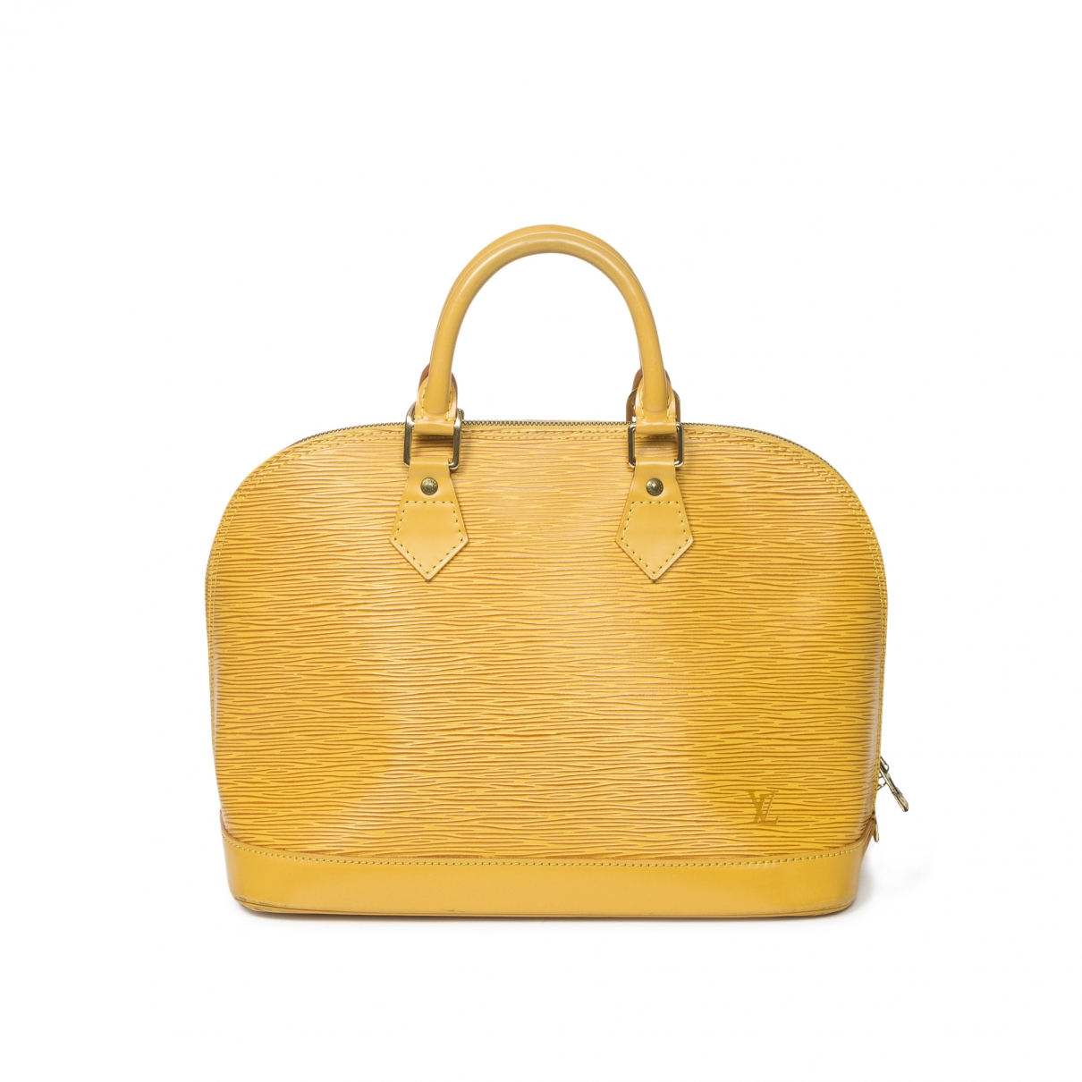 Louis Vuitton Alma Yellow Leather handbag for Women \N