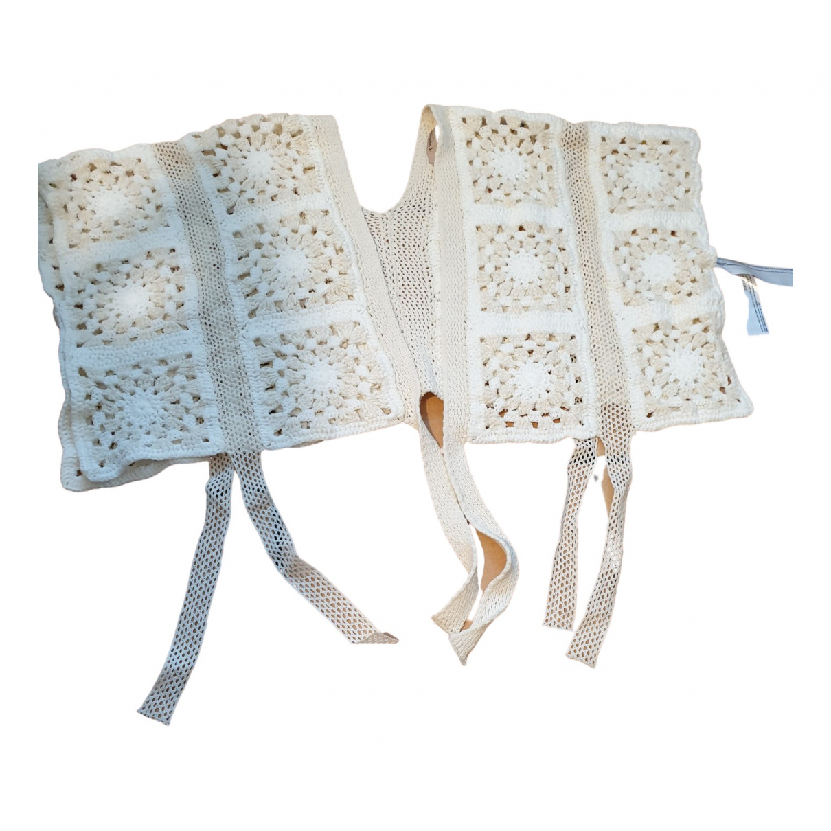 Twin Set - Pull   pour femme en coton - beige