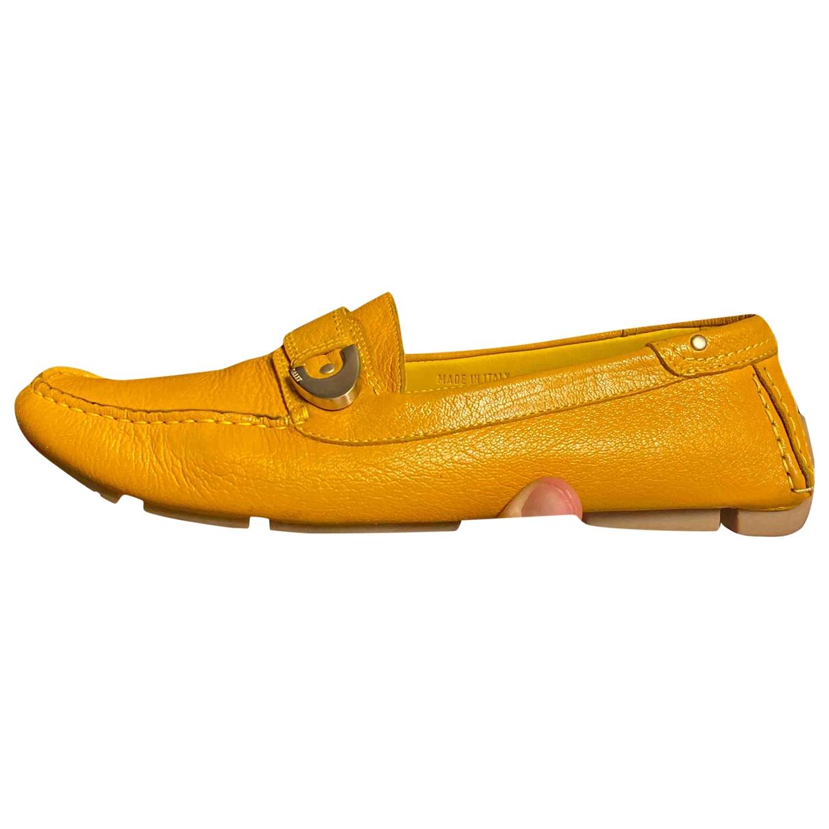 Bally \N Mokassins in  Gelb Leder