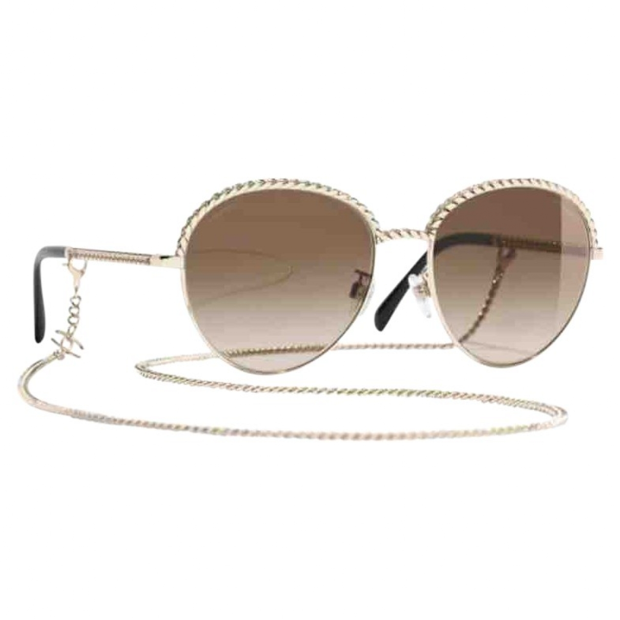 Chanel - Lunettes   pour femme en metal - dore