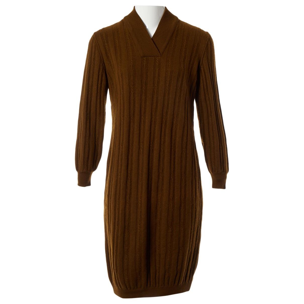 Celine \N Kleid in  Braun Wolle