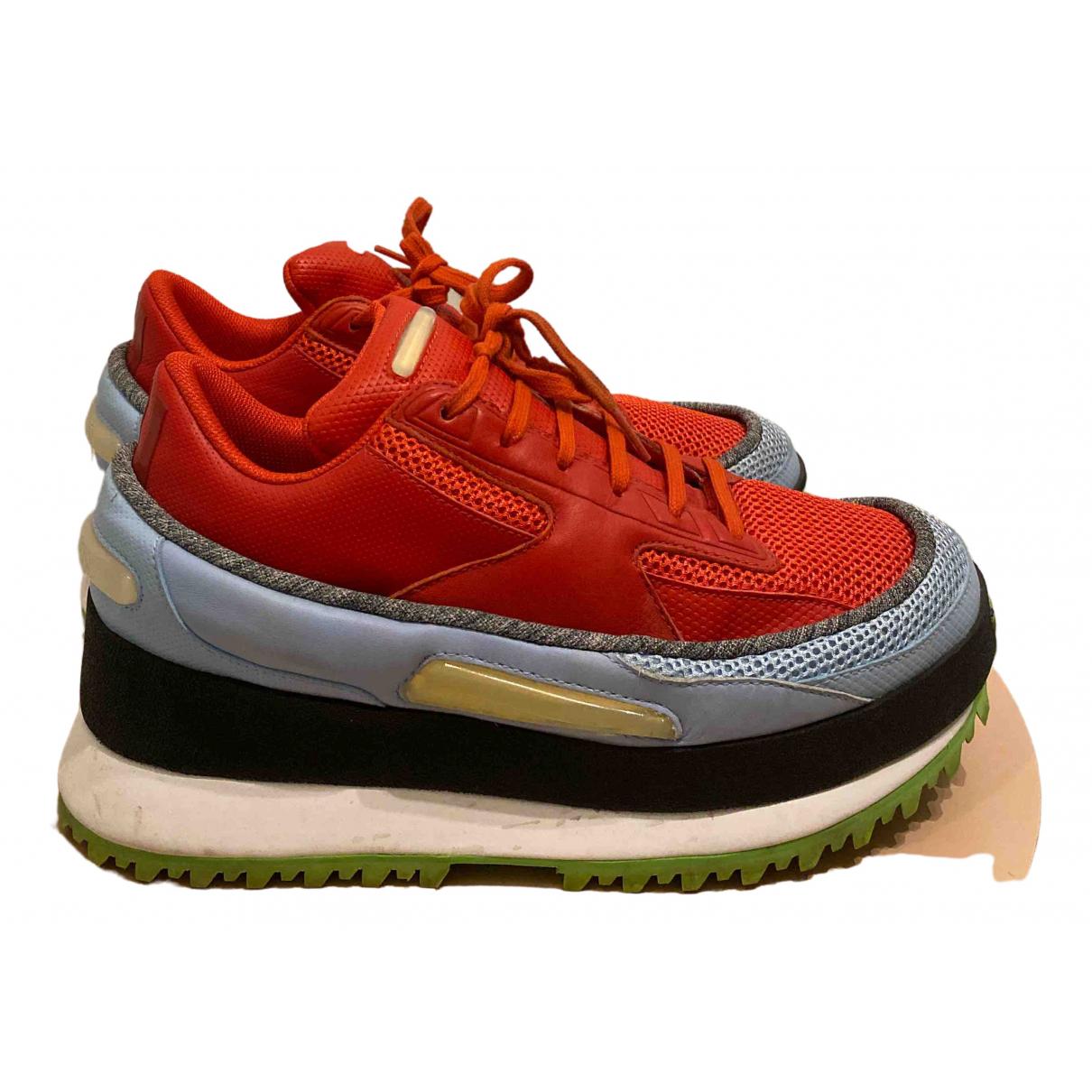 Adidas X Raf Simons \N Sneakers in  Orange Leinen
