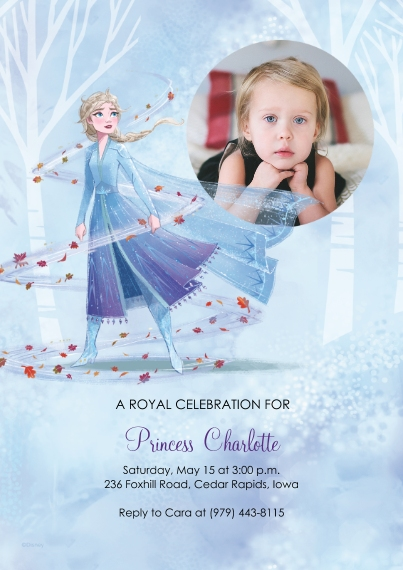 Kids Birthday Party 5x7 Cards, Standard Cardstock 85lb, Card & Stationery -Frozen Royal Birthday Celebration by Hallmark