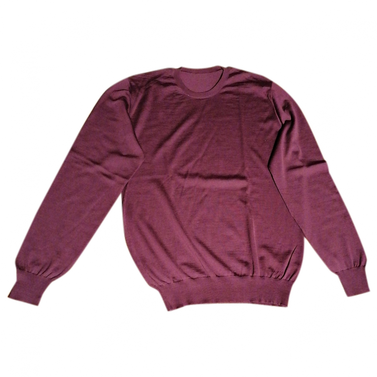 Yves Saint Laurent \N Burgundy Wool Knitwear & Sweatshirts for Men L International