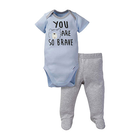 Gerber Baby Boys 2-pc. Animal Pant Set, Newborn , Multiple Colors