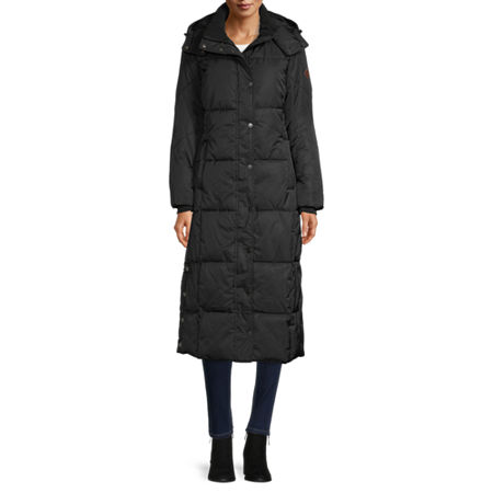St. John's Bay Heavyweight Puffer Jacket, Petite Small , Black