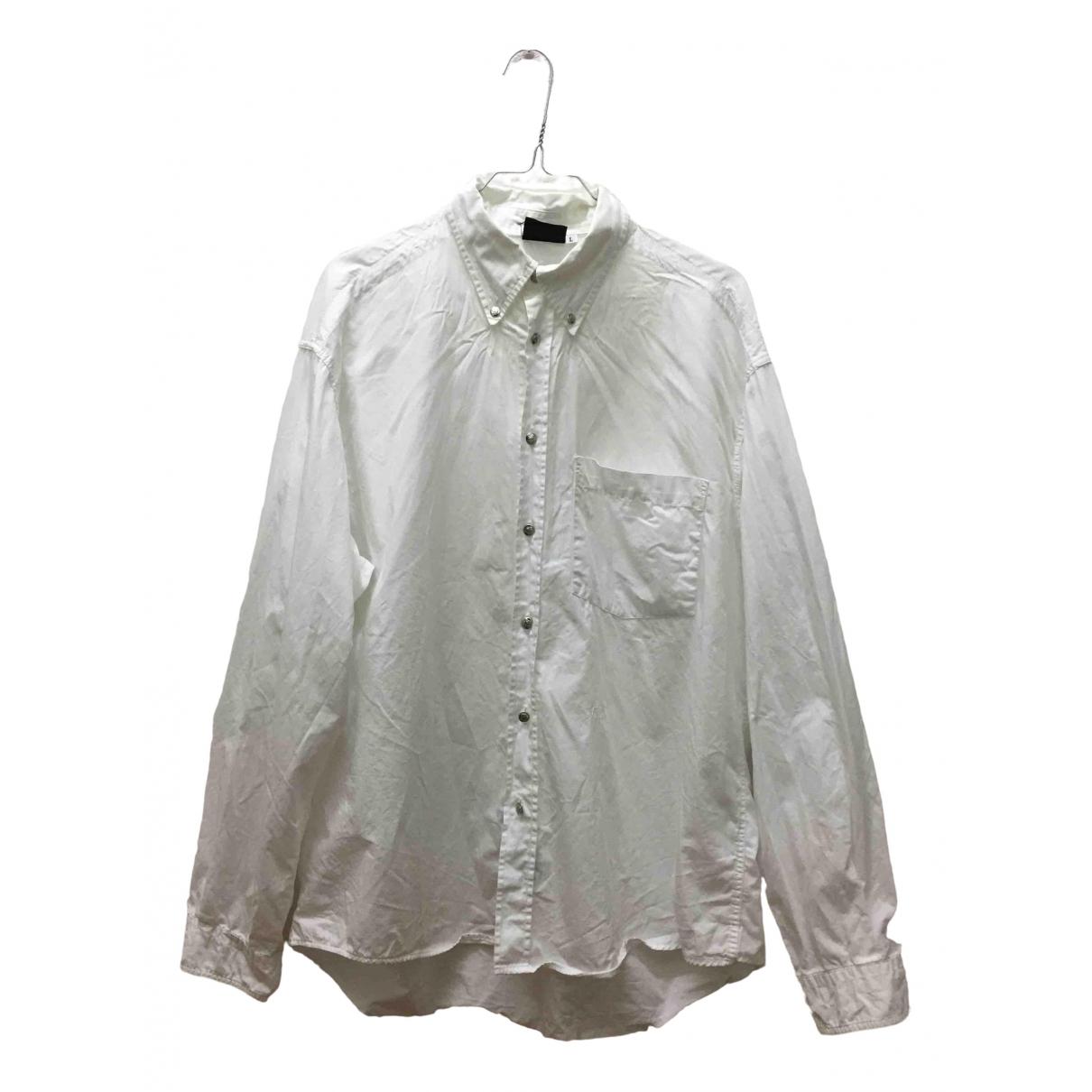 Versace Jeans \N White Cotton Shirts for Men L International