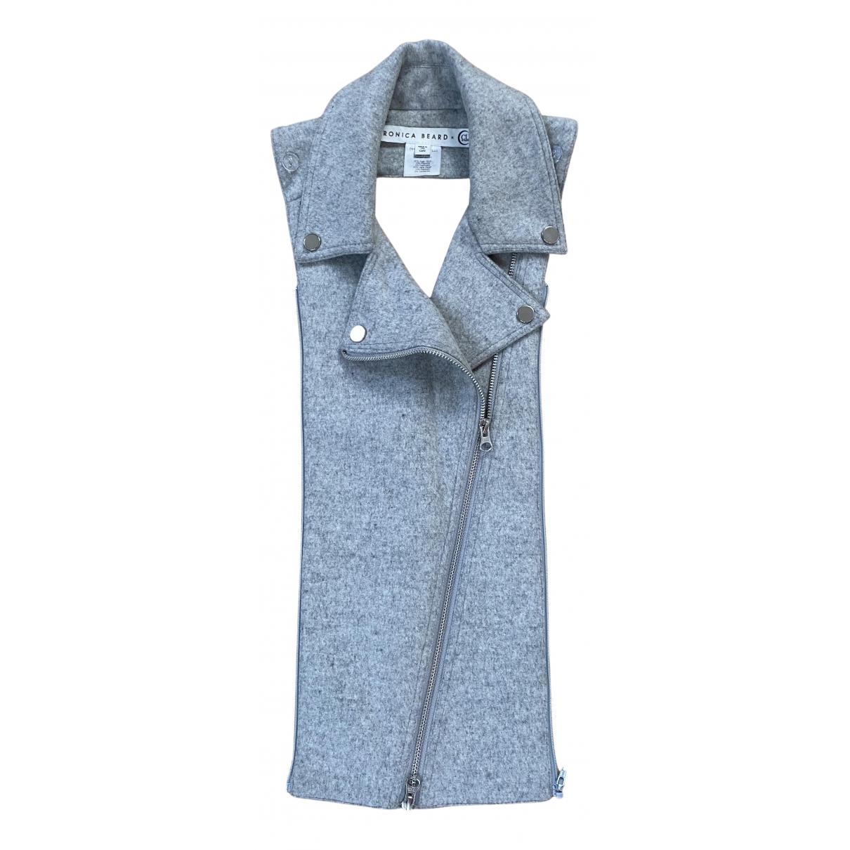 Veronica Beard \N Schal in  Grau Wolle