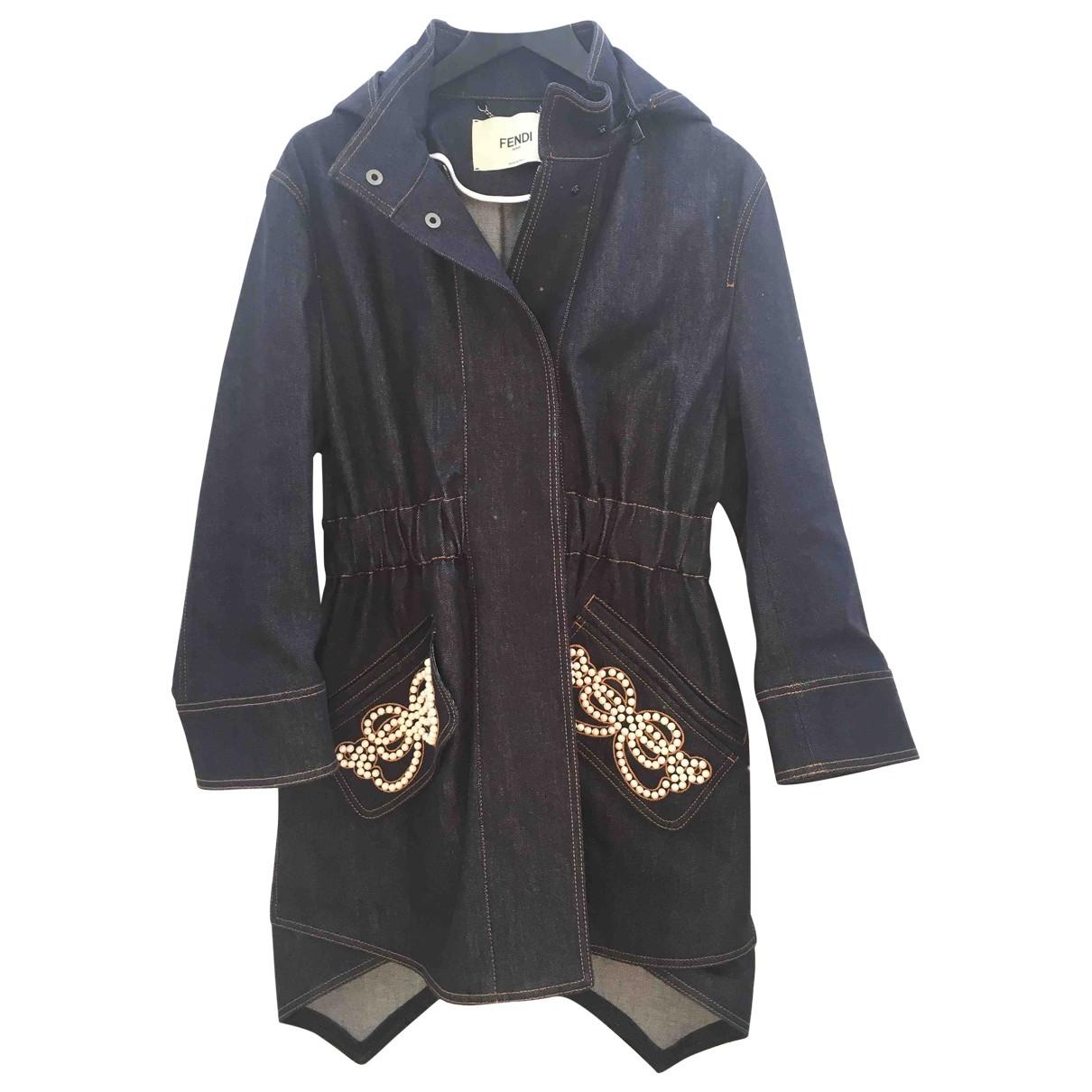 Fendi \N Blue Denim - Jeans coat for Women 38 IT