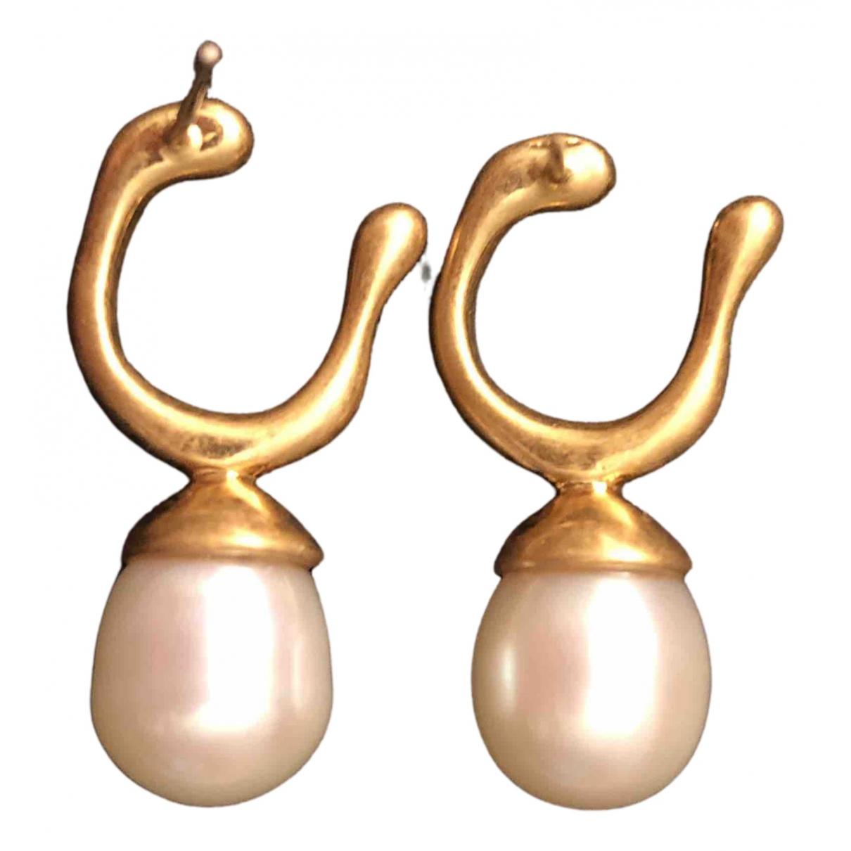 - Boucles doreilles   pour femme en plaque or - dore