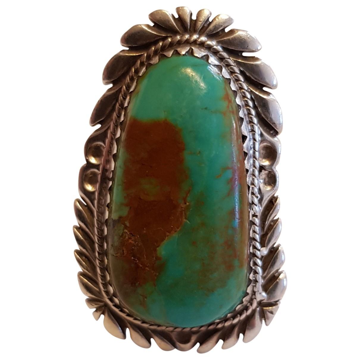 - Bague Turquoises pour femme en argent - bleu
