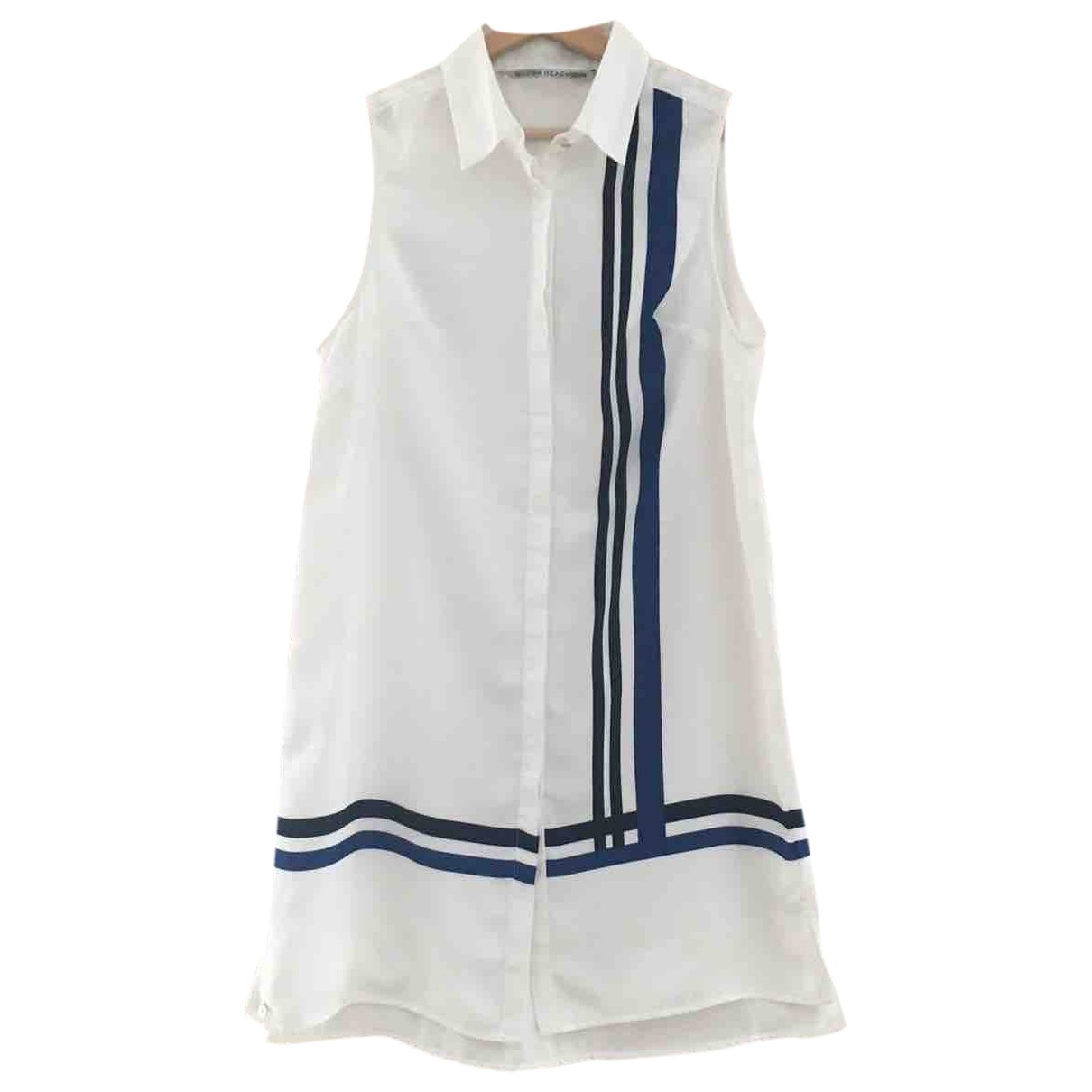 Non Signé / Unsigned \N White dress for Women XS International