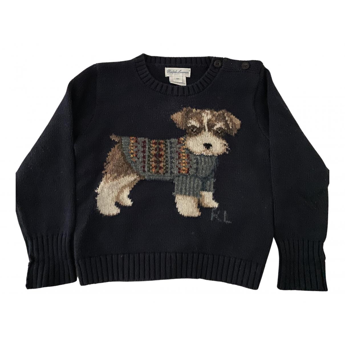 Ralph Lauren - Pull   pour enfant en laine - bleu