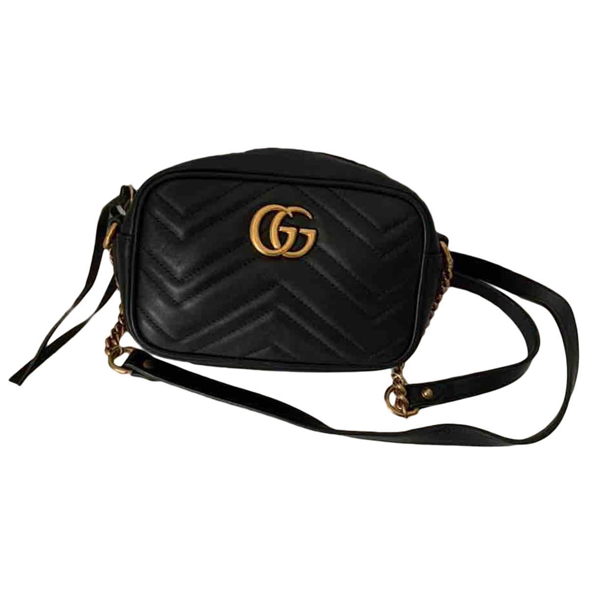 Gucci GG Marmont Circle Black Leather handbag for Women \N