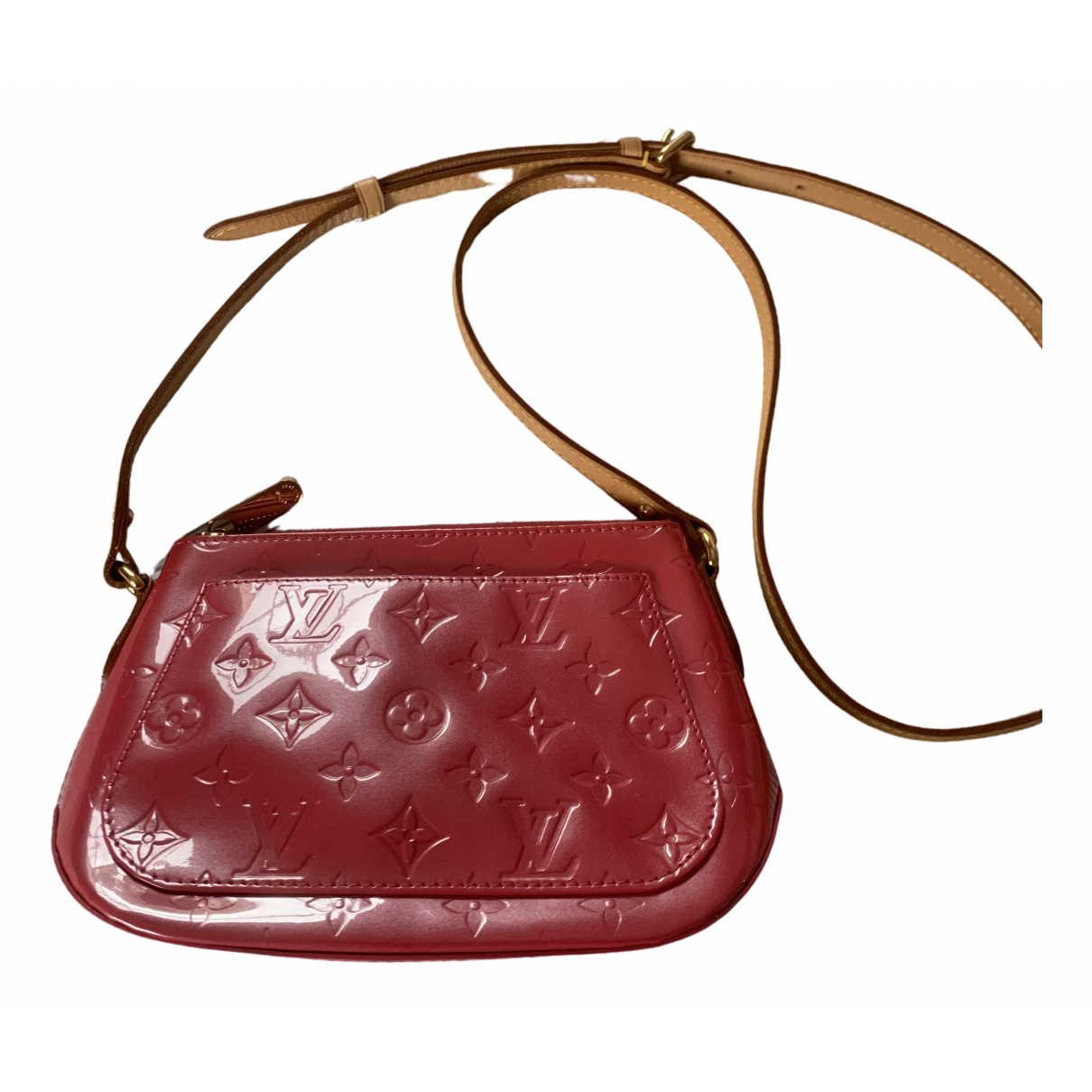 Louis Vuitton \N Clutch in  Rosa Lackleder