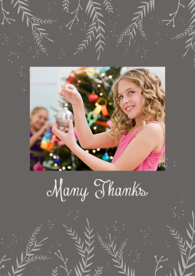 Thank You Cards 5x7 Cards, Standard Cardstock 85lb, Card & Stationery -Merriestto You