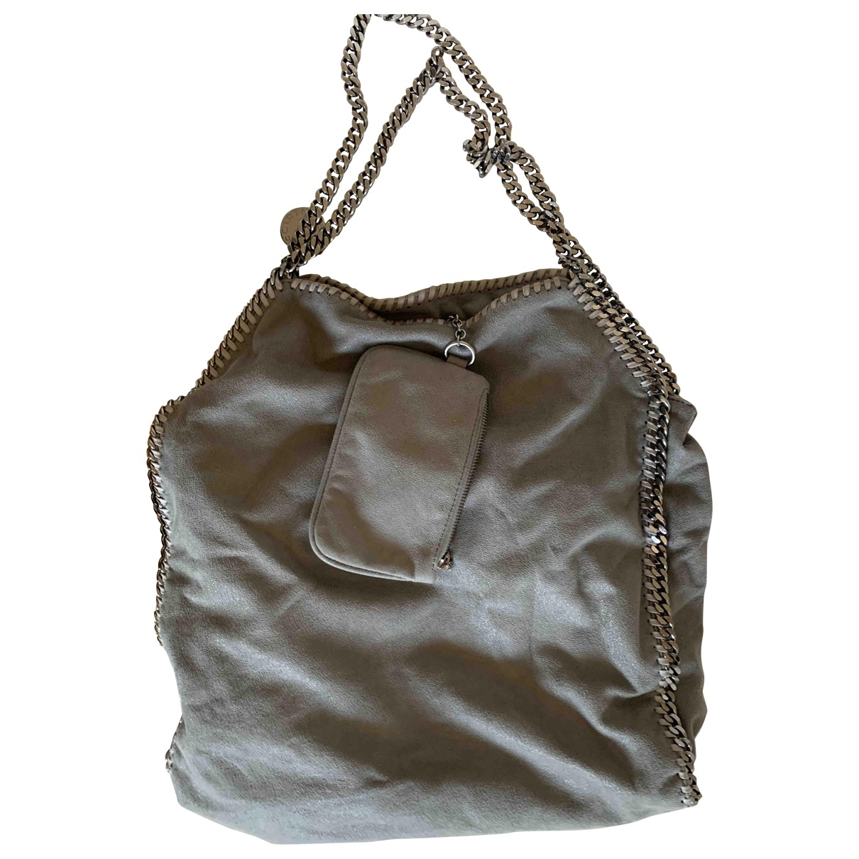Stella Mccartney Falabella Handtasche in  Grau Leinen