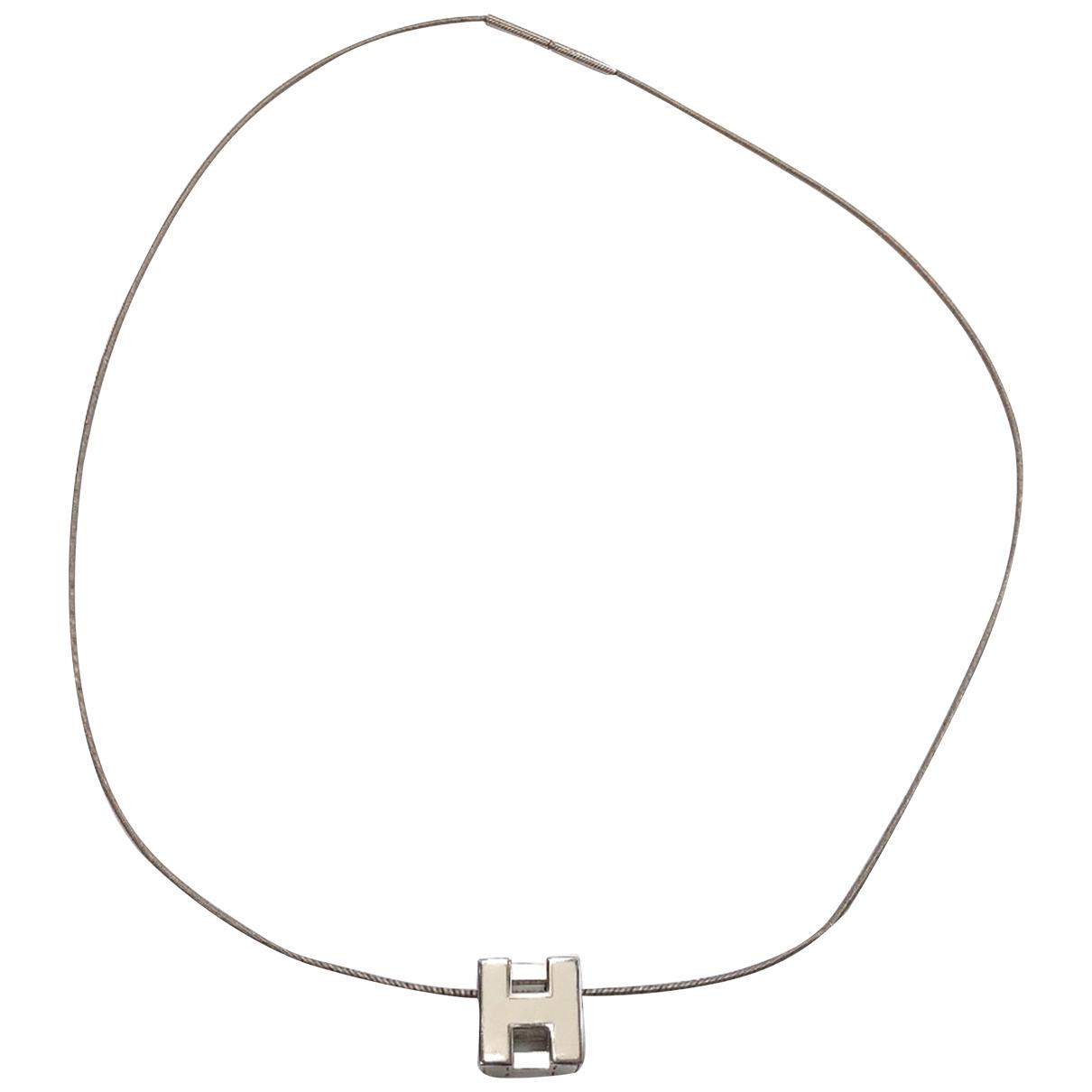 Hermès N Silver Metal necklace for Women N