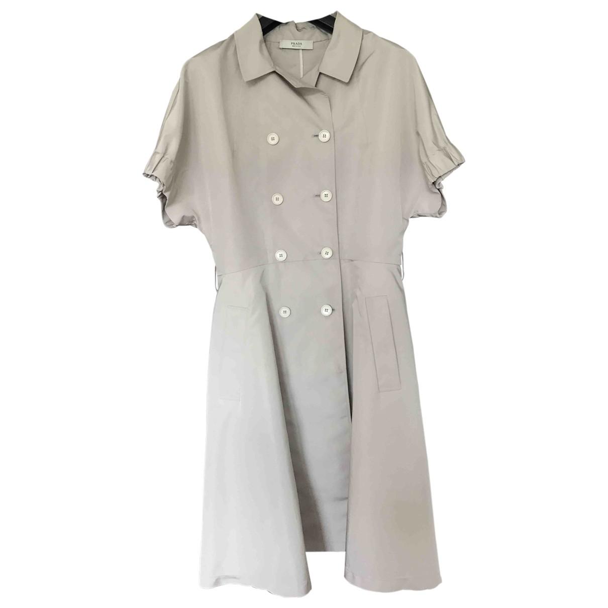 Prada - Robe   pour femme en soie - beige
