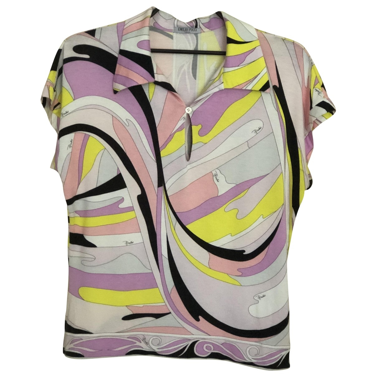 Emilio Pucci \N Pink Cotton  top for Women 46 IT