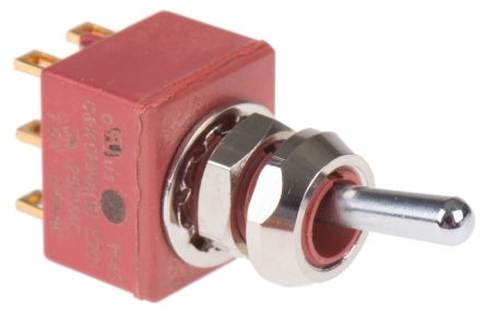C & K DPDT Toggle Switch, Latching, Panel Mount