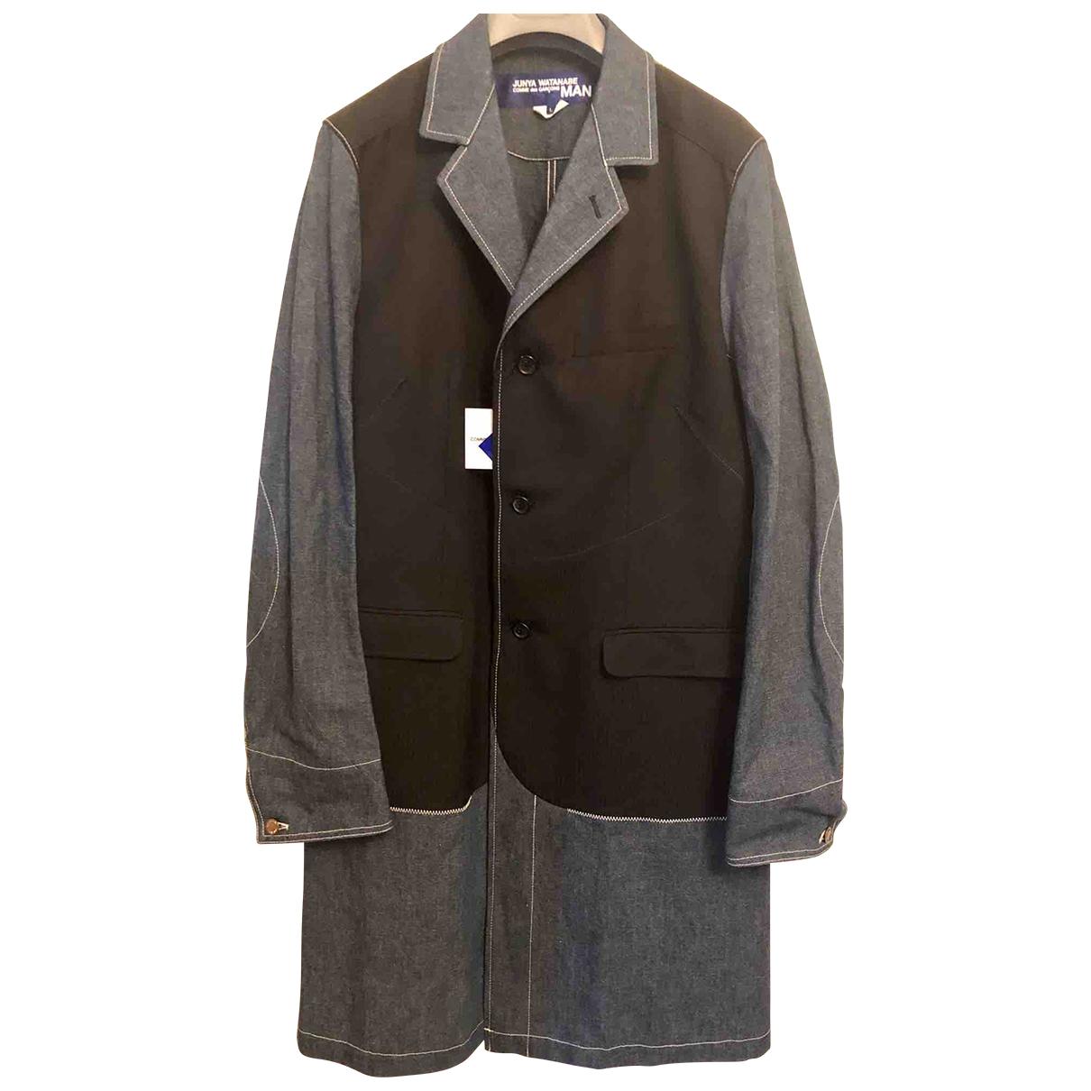 Junya Watanabe - Manteau   pour homme en coton - bleu