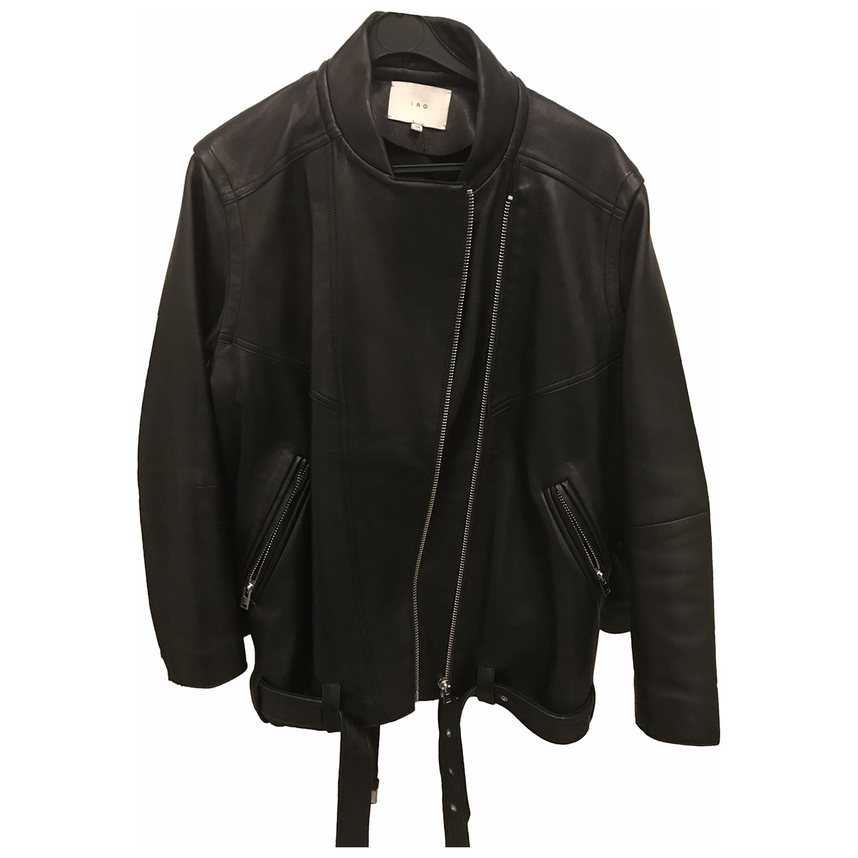 Iro \N Black Leather Leather jacket for Women 38 FR