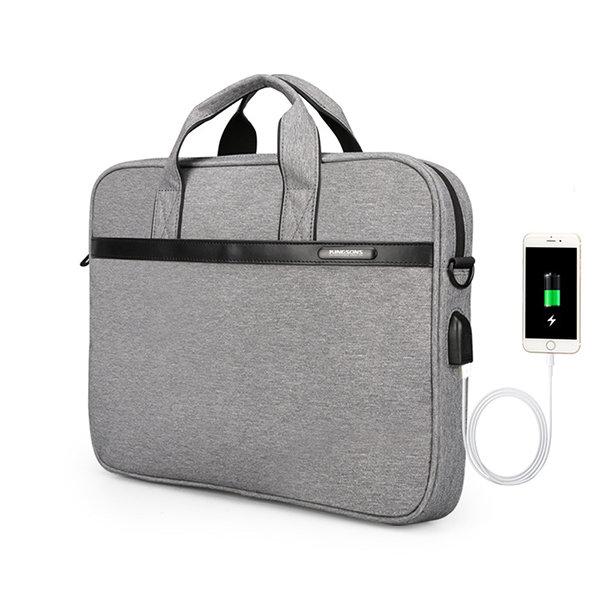 USB Travel Laptop Bag Waterproof Messenger Bag Shoulder Bag for Men And Women