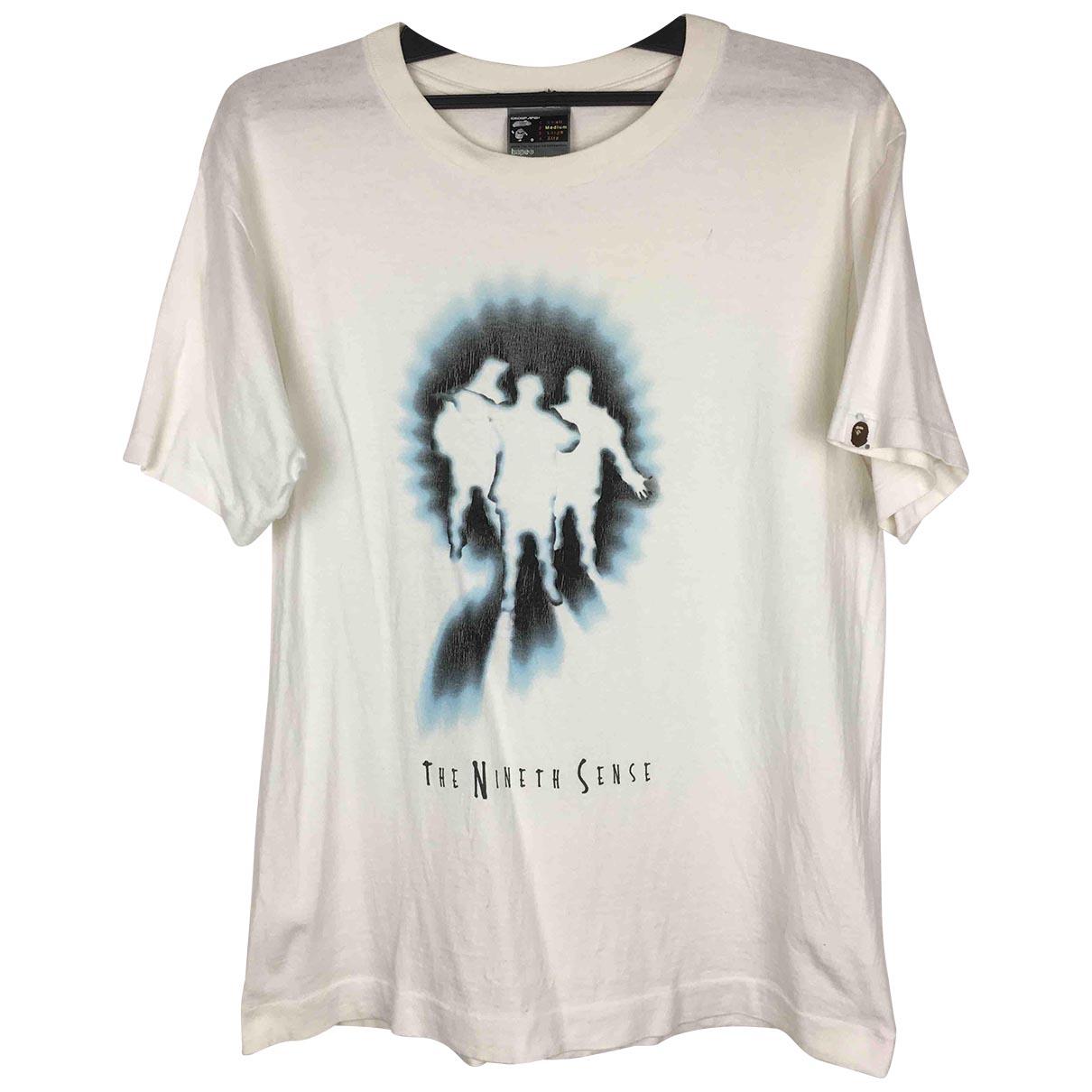 A Bathing Ape - Tee shirts   pour homme en coton - blanc