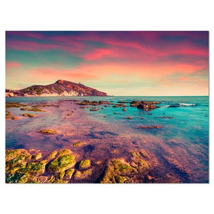 PT9091-40-30 Giallonardo Beach Colorful Sunset - Seashore Photo Canvas Print -