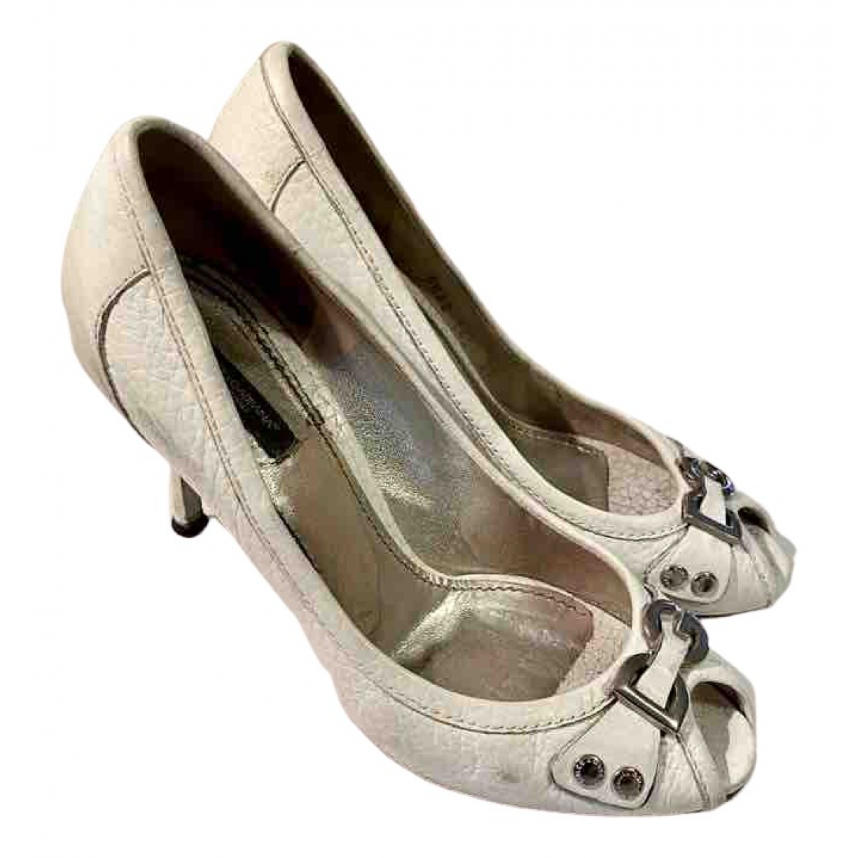 Dolce & Gabbana \N Pumps in  Weiss Leder