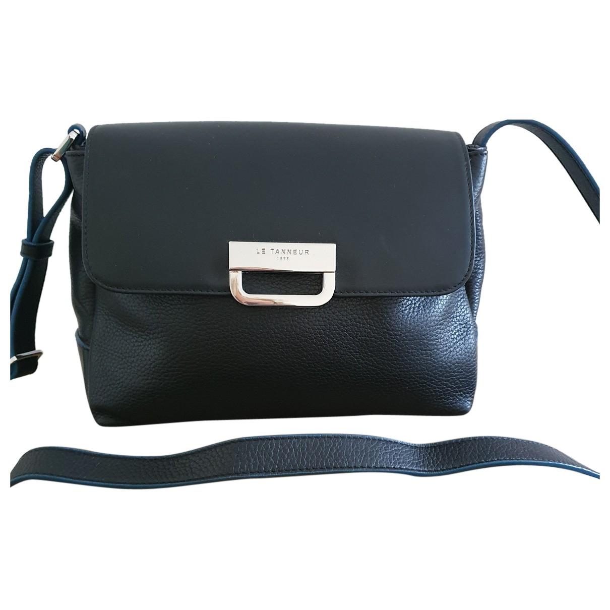 Le Tanneur N Navy Leather handbag for Women N